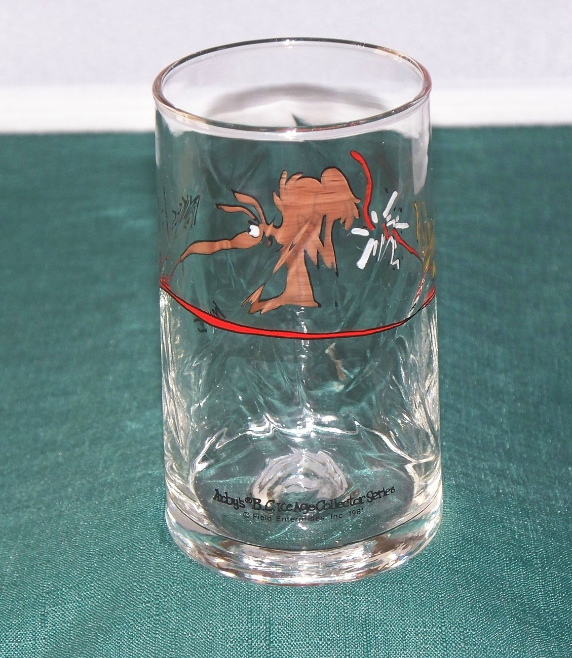 Arby's B.C. Ice Age Series Anteater Glass 1981 VGC
