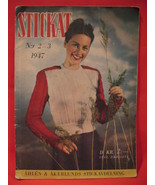 Vintage 1947 Stickat Swedish Knitting Patterns FAMILY Sweaters Dress Sui... - $14.99