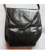 Vintage Black Genuine Snakeskin Purse, by Aspec... - $30.00