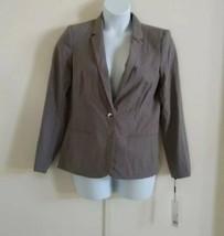 Calvin Klein Women's Long Sleeve One Button Closure Light Gray Blazer Si... - $56.10