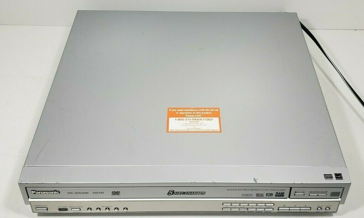 Panasonic 5 Disc DVD/CD Player changer DVD-F87 with Remote..Tested