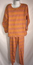 Girls CHICKEN NOODLE Cotton Shirt & Pants Yellow Orange Pink Striped Out... - $9.56