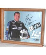 2002 RYAN NEWMAN #12 ALLTEL SIGNED POSTCARD & DIECAST CAR FRAMED IN DISP... - $65.00