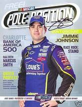 OCTOBER 2008 POLE POSITION RACING MAGAZINE JIMMIE JOHNSON ON THE COVER S... - $75.00