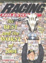 FEBRUARY 2005 RACING MILESTONES MAGAZINE KURT BUSCH ON THE COVER SIGNED - $40.00