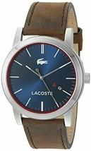 Lacoste Men's 2010848 Metro Quartz Brown Leather Casual Watch - $172.98