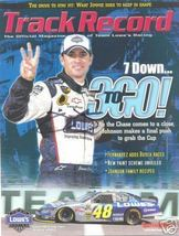 2005 LOWE'S TRACK RECORD RACING MAGAZINE JIMMIE JOHNSON ON COVER SIGNED - $55.00