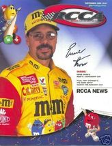 1999 RCCA DIECAST MAGAZINE M&M RACING TEAM DRIVER ERNIE IRVAN COVER SIGNED - $50.00