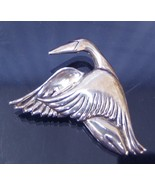 Sterling Silver Flying Goose Figural Brooch Pin 1993 - $34.99