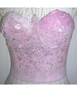 One of a Kind Indie Vintage Lace Bustier Hand Dyed Lace - $150.00