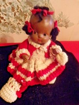 Vintage Bisque Jointed African American Baby Doll with pigtails - $34.65