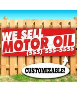 WE SELL MOTOR OIL CUSTOM PHONE NUMBER Advertising Vinyl Banner Flag Sign... - $12.32+
