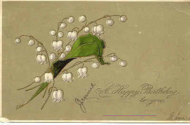 Happy Birthday  Paul Finkenrath of Berlin 1907 Post Card - $2.00