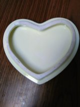 Porcelain Heart Shape Roses 2 Cherub Angels Trinket Jewelry Dish image 2