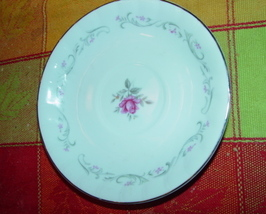"VINTAGE FINE CHINA ROYAL SWIRL SAUCER 5 7/8"" - $9.00"