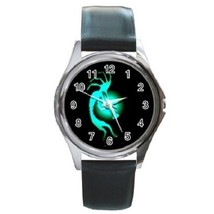Kokopelli Kokopele Spirit Trickster Unisex Round Metal Watch Gift model ... - $13.99