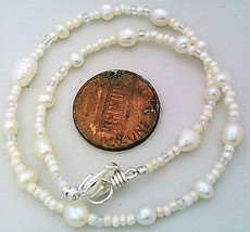 White Freshwater Pearl Anklet - $10.09
