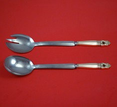 Royal Danish by International Sterling Silver Salad Serving Set Modern C... - $147.51