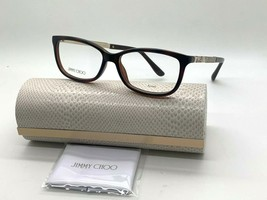 Jimmy Choo Eyeglasses Jc 190 9N4 Havana Brown 52-15-140MM Italy Case& Cloth - $77.57