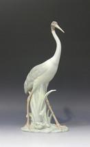 Lladro 01001032 Crane Porcelain Figurine Rare Glased Perfect Condition - $445.50