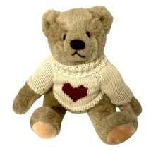 Vintage Gund 1982 Bialosky Bear Fully Jointed With Sweater Brown - $27.23