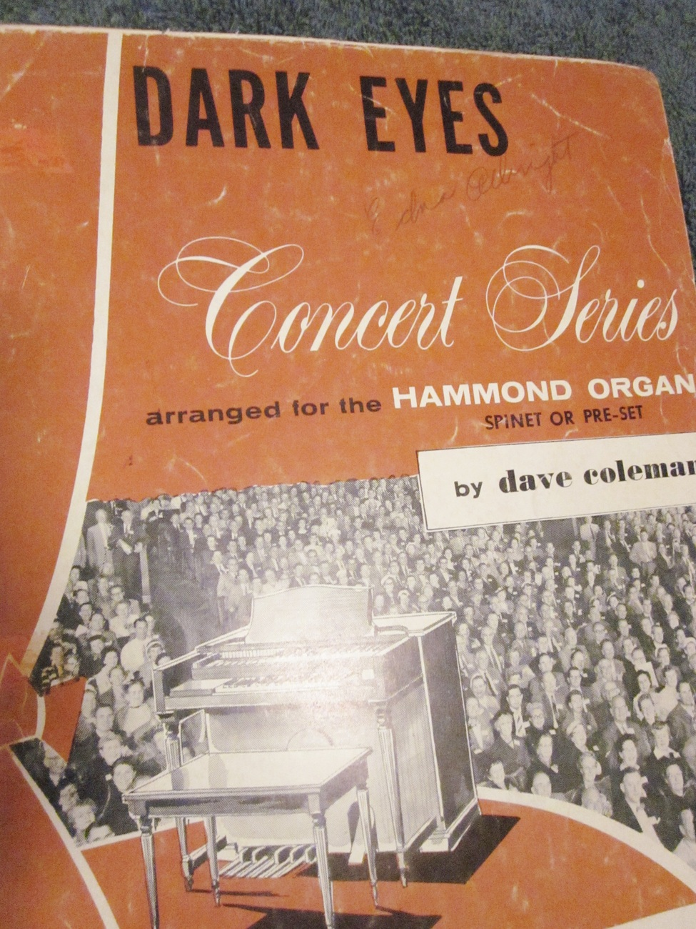 Sheet Music Dark Eyes by Dave Coleman Concert Series for Organ