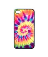 NEW iPhone 4 Hard Black Case Cover Tie Dye Hippie Hippies Art Color 3613... - $17.99