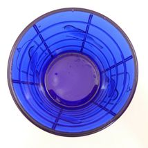 NOS Vintage IMPERIAL COBALT BLUE Glass BIRD CAGE Covered JAR Canister SUMMIT image 7