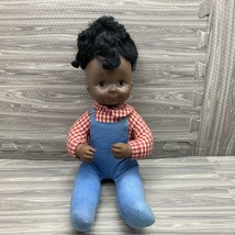Vintage Ideal Doll African American 14 In Kit and Kaboodle Black Baby Ov... - $14.00