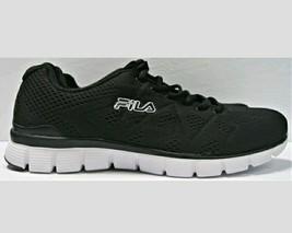 83b982f878ec Fila Men  39 s Memory Refractive Athletic Memory Foam Running Shoe Black Sz  9