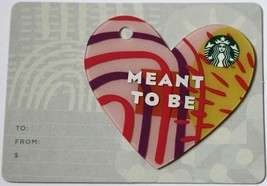 Starbucks Korea 2018 Heart Die Cut Korean Gift Card Valentine`s Day New - $7.95
