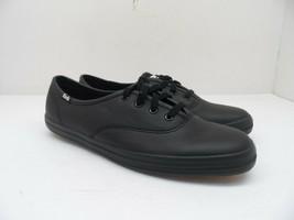 Keds Women's Champion Originals Leather Lace Up Casual Shoe Black Size 7.5M - $52.24