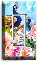 FLORAL PEACOCK BIRDS COLORFUL FEATHERS 1 GFCI LIGHT SWITCH WALL PLATE RO... - $10.99