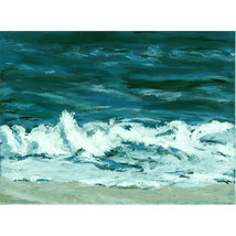 Montauk Surf (An Original Seascape Painting) - $400.00
