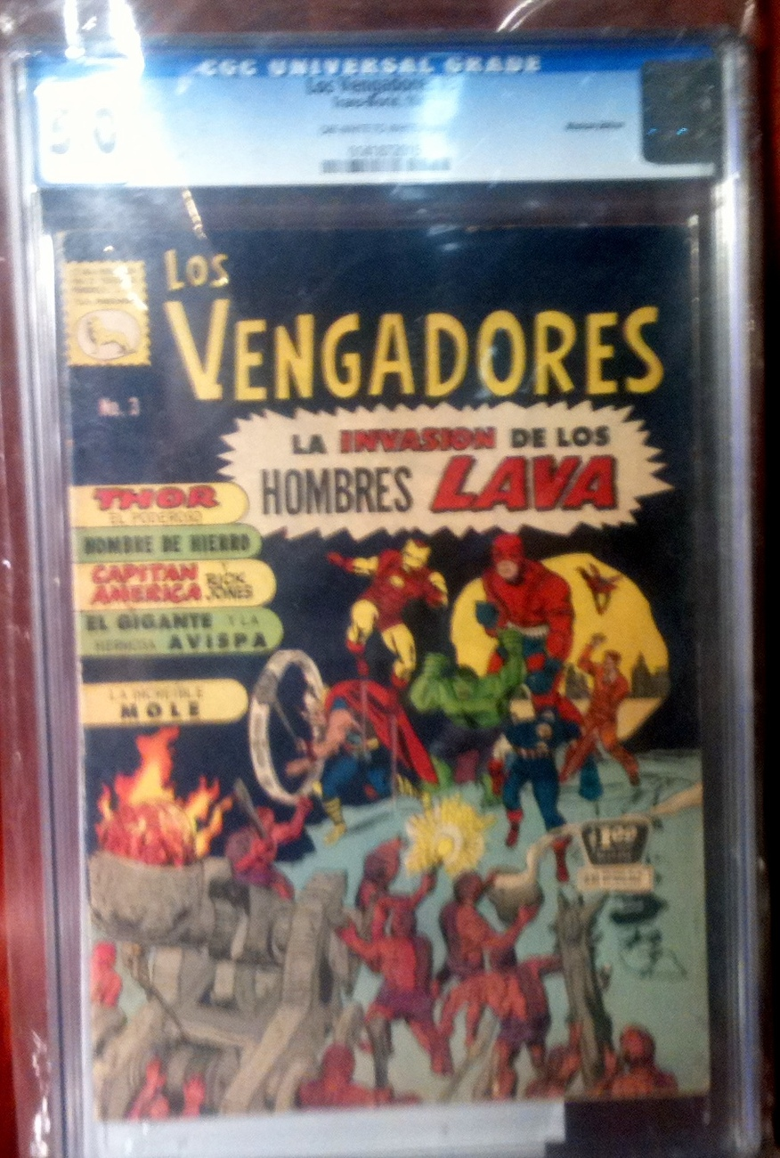 Los Vengarores # 3 CGC Graded 5.0 VG+ Mexican Avengers