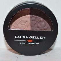 Laura Geller Baked Impressions eye shadow duo Fine Wines .106 oz pink bu... - $8.09