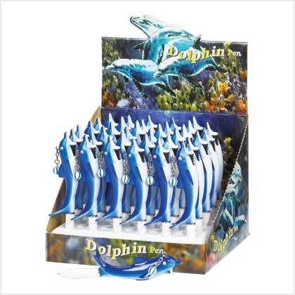 "Pens  dolphin figurine Reduced easy-grip ""handle""  ball-point tip lot of 36"
