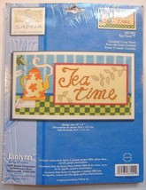 Janlynn Tea Time Cross Stitch Kit I88-0002 New Coffee Shop Decor Wallhanger  - $10.99