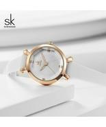 SK® Watches Small Round Dial Ladies Watches Fashion Leather Women Quartz... - $21.74
