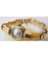 Designer Rare Mint Art deco 14k  Yellow gold Omega Ladies Watch - $2,474.99