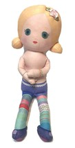 "Zapf Creation Mooshka Plush Fabric 13"" Doll Multicolor No Clothes Included - $11.35"