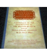 Vintage Book: Printing and The Mind Of Man Illustrated Catalogue British... - $15.00