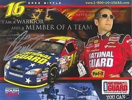 2005 GREG BIFFLE #16 NATIONAL GUARD NASCAR POSTCARD SIGNED - $12.75