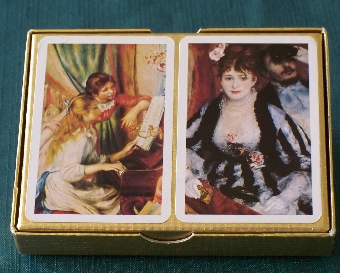 Piatnik Renoir Double Deck Playing Cards Austria  VGC