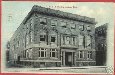 Jackson MI Postcard YMCA Building Michigan BJs