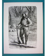 AMERICAN WEST Captain Baron de Wogan Explorer - 1866 Antique Print Engra... - $16.20