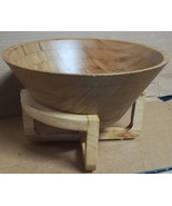 African WOOD BOWL with Isolation Stand Lavish Dinner Table 35 - $20.76