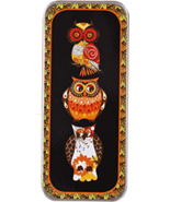 Autumn Hoots Needle Slide cross stitch accessory Just Nan - $6.90