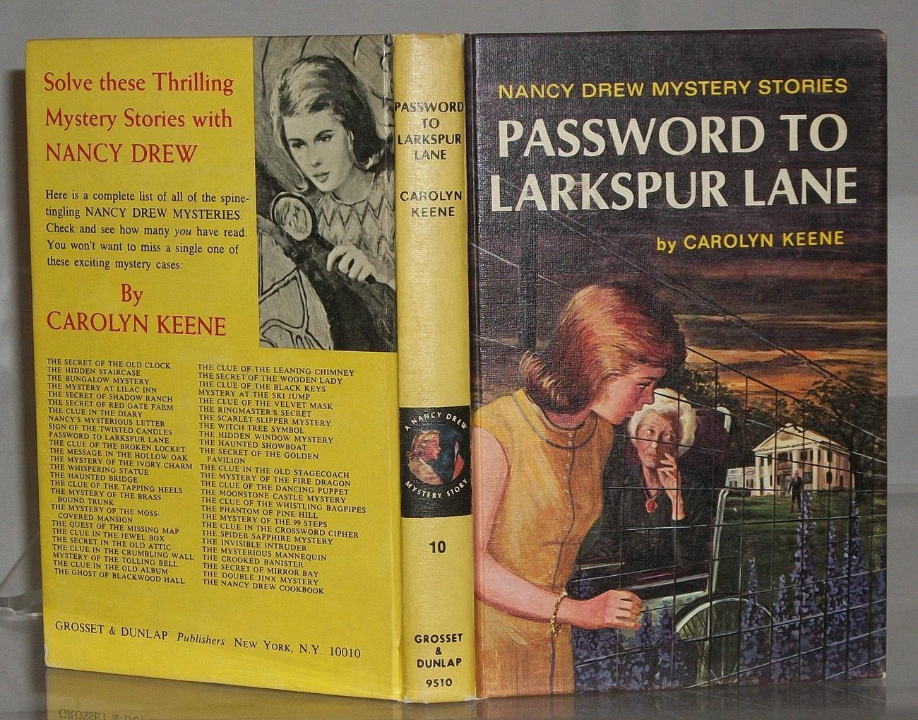 Nancy Drew #10 Password to Larkspur Lane Vintage Revised Text Matte PC