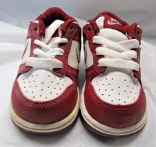 NIKE 304811-613 DUNK LOW Maroon White Size 6c - £26.59 GBP